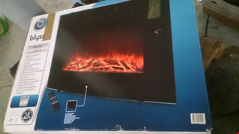 Lot 32 BOXED BLYSS MURLO 1900W BLACK WALL HUNG LED ELECTRIC FIRE RRP £68.00