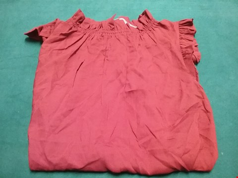 Lot 56 OASIS RUST BLOUSE SIZE 10