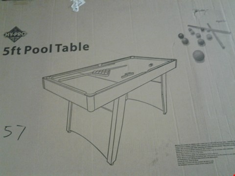 Lot 253 5FT POOL TABLE AGES 5+