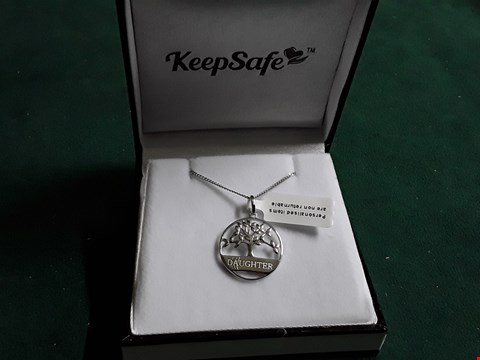 Lot 1518 KEEPSAFE STERLING SILVER TREE OF LIFE DAUGHTER NECKLACE RRP £52