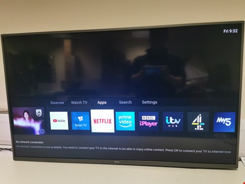 Lot 45 PHILIPS 43PUS7805 43 INCH 4K ULTRA HD HDR SMART LED TV FREEVIEW PLAY RRP £399.00