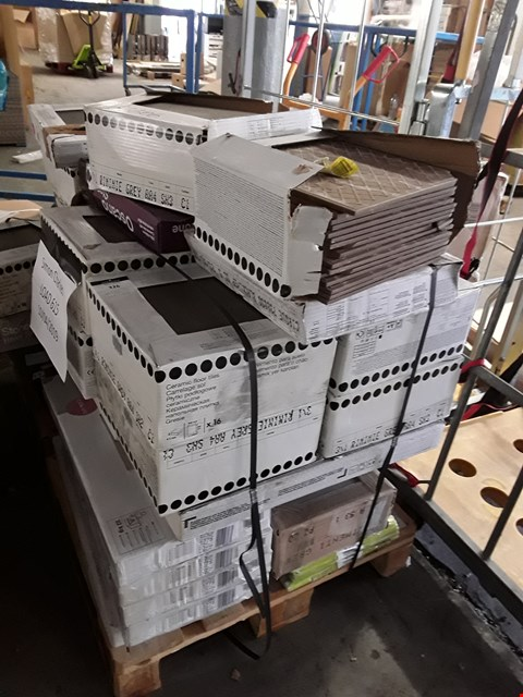 Lot 326 PALLET OF APPROXIMATELY 69 ASSORTED PACKETS OF WALL AND FLOOR TILES RRP £700