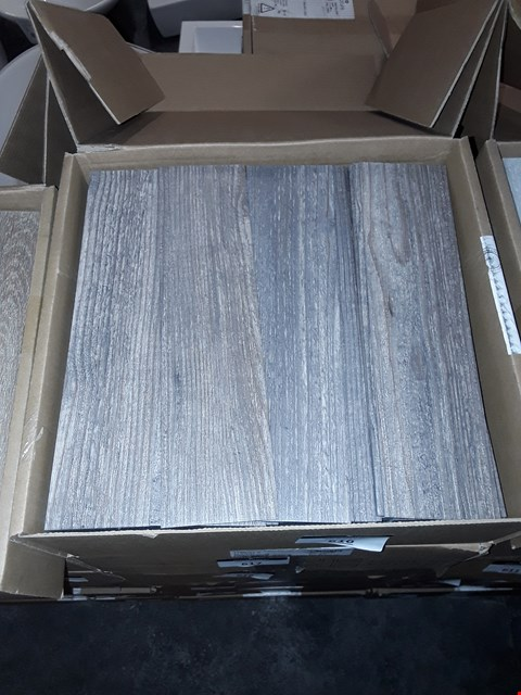 "Lot 3008 A BOX OF APPROXIMATELY 180 AMITCO LAMINATED WOOD EFFECT 12""×3"" FLOOR STRIPS RRP £100.00"