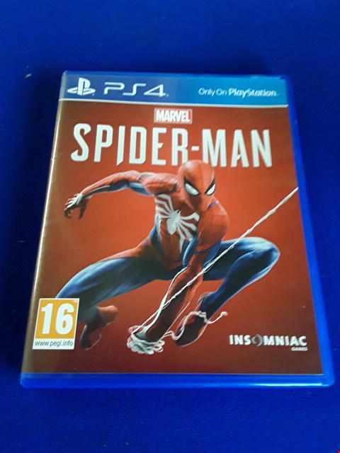 Lot 7632 MARVEL SPIDERMAN PLAYSTATION 4 GAME