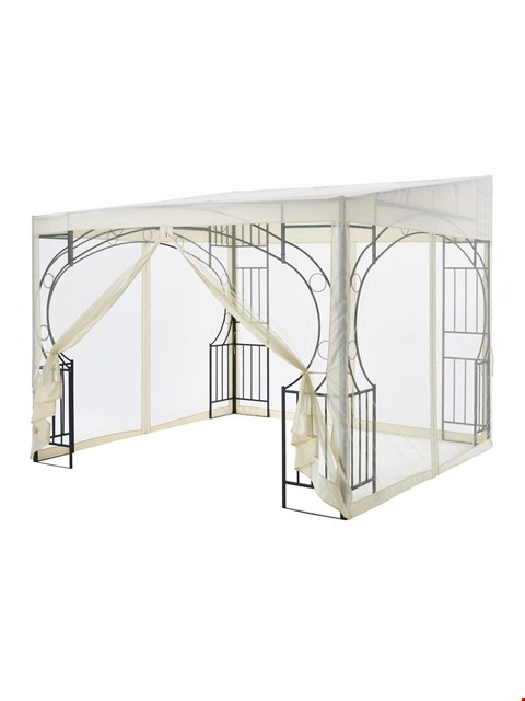 Lot 256 LEAN TO STYLE METAL GAZEBO (BOX 2 OF 2 ONLY)