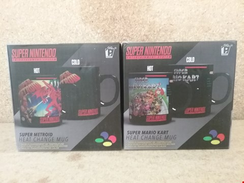 Lot 341 2 BRAND NEW SUPER NINTENDO MUGS