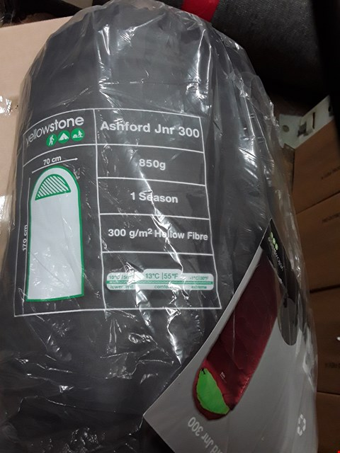 Lot 3281 BRAND NEW 2 PACK CLOSED TOILET BRUSHES AND ASHFORD JUNIOR 300 SLEEPING BAG RRP £42.00
