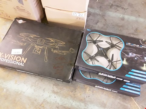 Lot 7335 LOT OF 3 PRO DRONES INCLUDES X-VISION AND AIR NINJA DRONES