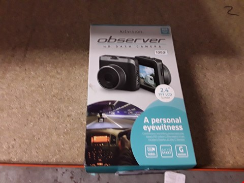 Lot 391 LOT OF APPROXIMATELY 5 KITVISION OBSERVER HD DASH CAM
