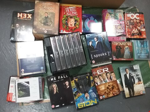 Lot 12025 A BOX OF APPROXIMATELY 21 ASSORTED DVD/BOXSETS TO INCLUDE SHARPE COLLECTION AND A HOME ALONE COLLECTION