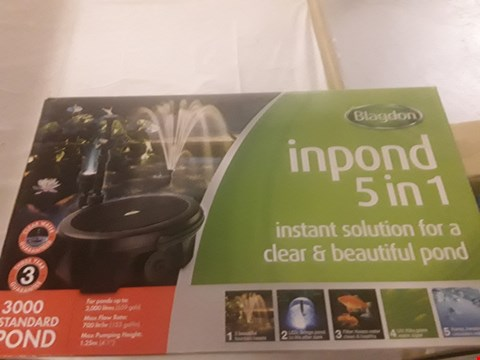 Lot 2034 BLAGDON INPOND 5 IN 1 FILTER AND PUMP SYSTEM