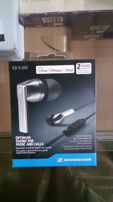 Lot 1406 BOXED CX 5.00 IN EAR HEADPHONES FOR APPLE IOS BY SENNHEISER RRP £92.00