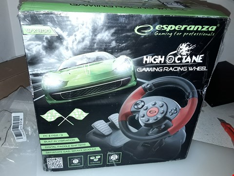 Lot 4121 ESPERANZA GAMING WHEEL