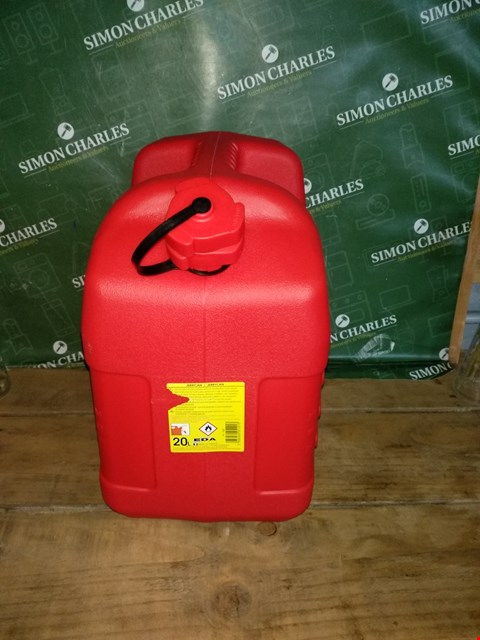 Lot 7026 RED HIGH DENSITY POLYETHYLENE JERRYCAN