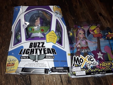 Lot 790 BUZZ LIGHTYEAR SPACE RANGER TOY AND MOXIE GIRLZ ROCKING BAND