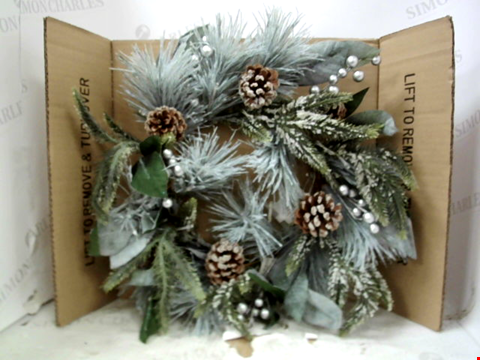 Lot 13140 PINECONES LIT CHRISTMAS WREATH RRP £32.99