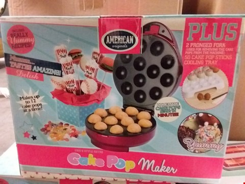 Lot 659 BOXED AMERICAN ORIGINALS CAKE POP MAKER