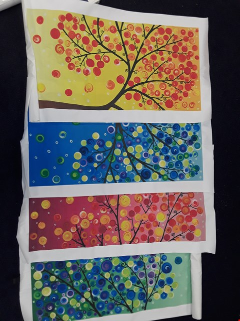 Lot 25 LOT OF 4 TREE PRINTS ON CANVAS
