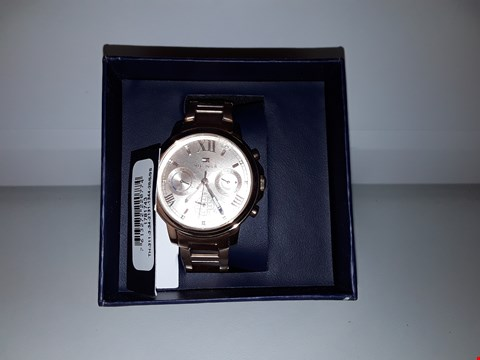 Lot 2159 TOMMY HILFIGER ROSE GOLD CHRONOGRAPH WRISTWATCH  RRP £199.00