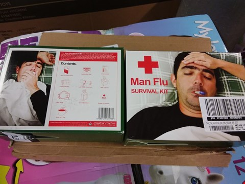 Lot 2136 LOT OF 3 GRADE 1 ITEMS TO INCLUDE 2 X MAN FLU SURVIVAL KITS, PERSONALISED HAMMER RRP £72
