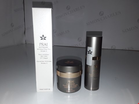 Lot 718 PRAISE EXTREME WRINKLE FILLER FIX GRADE 3 10ML/EXTREME DERMADOSE CREME 30ML/EXTREME LAZERFREE SOLUTION 30ML