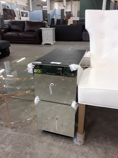 Lot 28 DESIGNER MIRRORED TWO DRAWER DRESSING TABLE PART