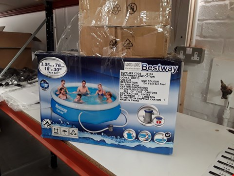 Lot 104 BESTWAY FAMILY FUN POOL 3.05 ×76CM WITH FILTER PUMP RRP £109.99