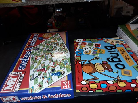 Lot 2062 SNAKES & LADDERS , SILLY SAFARI BINGO BOARD GAME AND SOCCER SPORT GAME