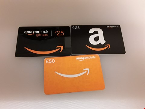 Lot 36 3 ASSORTED AMAZON GIFT CARDS TOTAL VALUE £100