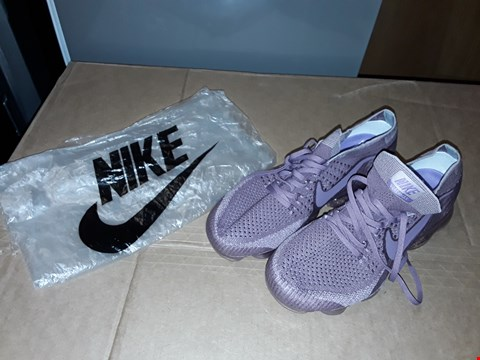 Lot 19 NIKE VAPORMAX RUNNING SHOES PURPLE (SIZE UNKNOWN, DOESN'T COME WITH BOX)