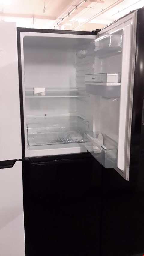 Lot 69 HISENSE BLACK FRIDGE FREEZER WITH WATER DISPENSER  RRP £249