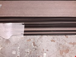 Lot 73 LOT OF 6 PANELS OF BROWN COMPOSITE DECKING BOARDS RRP £100