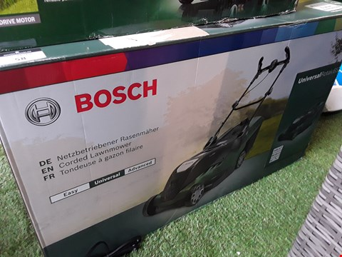 Lot 58 BOXED BOSCH UNIVERSAL ROTAK 650 CORDED LAWNMOWER  RRP £150.00
