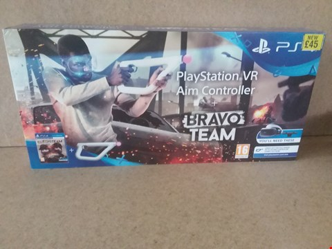 Lot 21 BRAND NEW BOXED PLAYSTATION VR AIM CONTROLLER + BRAVO TEAM FOR PS4