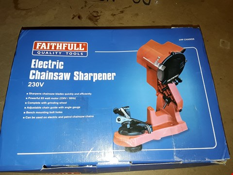 Lot 1076 FAITHFULL POWER PLUS CHAINSS 240V ELECTRIC CHAINSAW SHARPENER