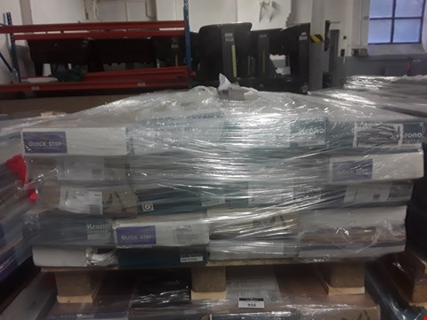Lot 915 PALLET OF APPROXIMATELY 20 PACKS OF ASSORTED LAMINATE FLOORING