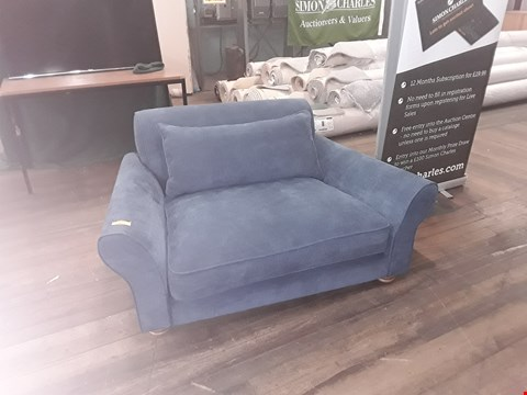 Lot 81 DESIGNER TERENCE CONRAN BLUE FABRIC SNUGGLE CHAIR