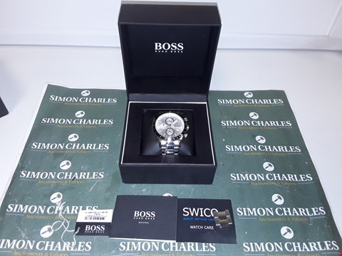 Lot 1215 HUGO BOSS CHRONOGRAPH WATCH WITH STOPWATCH FUNCTION