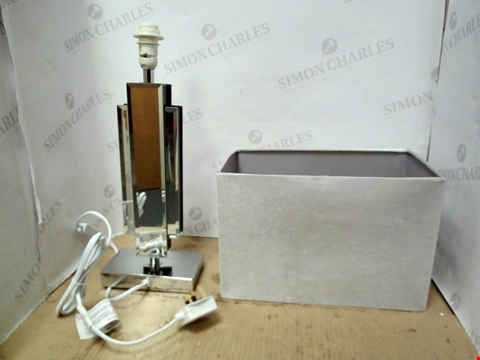 Lot 13344 RENE MIRRORED GLASS TABLE LAMP RRP £50.00