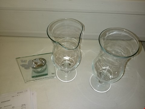 Lot 9213 SET OF 2 RAVENHEAD COCKTAIL GLASS 42CL AND PERSONALISED BUTTERFLY TEALIGHT HOLDER RRP £33.98