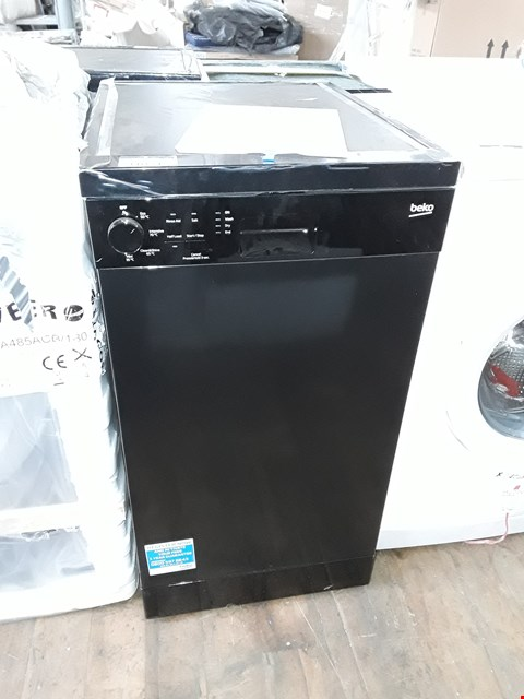 Lot 11054 BEKO DFS04010B 10-PLACE FREESTANDING SLIMLINE DISHWASHER - BLACK