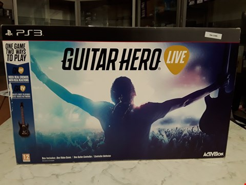Lot 3055 BOXED GUITAR HERO LIVE FOR PS3