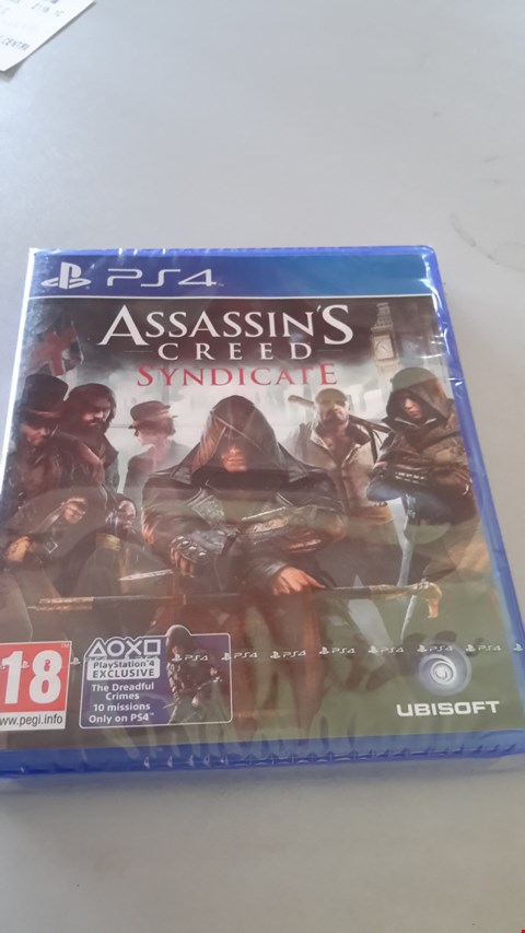 Lot 9018 ASSASSINS CREED SYNDICATE FOR PS4