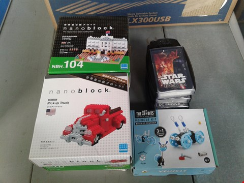 Lot 9003 LOT OF 12 BRAND NEW TOYS TO INCLUDE NANOBLOCK PICKUP TRUCK, OFF BITS VEHICLE KIT AND STAR WARS TOP TRUMPS