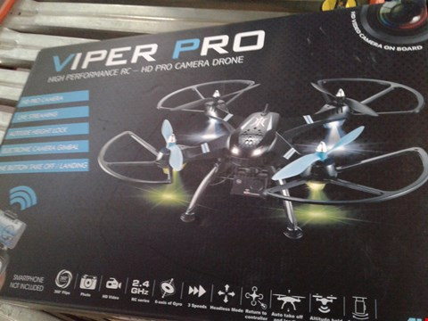 Lot 7933 VIPER PRO HIGH PERFORMANCE REMOTE CONTROL HD PRO CAMERA DRONE