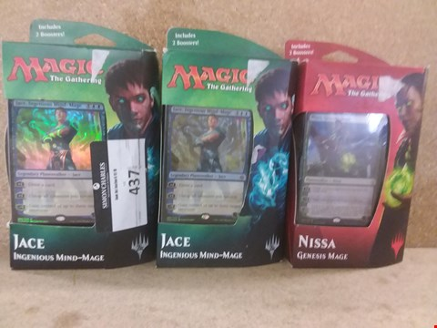 Lot 437 3 BRAND NEW BOXED ITEMS TO INCLUDE 2 A MAGIC THE GATHERING JACE INGENIOUS MIND-MAGE AND A MAGIC THE GATHERING NISSA GENESUS MAGE