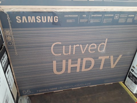 "Lot 1053 SAMSUNG 55"" UHD 7 SERIES 4K CURVED TELEVISION MODEL UE55RU7300K"