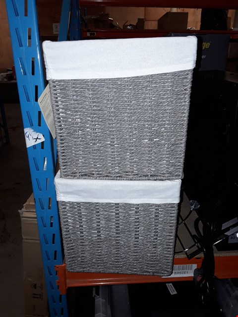 Lot 34 2X BASKET STORAGE CONTAINERS