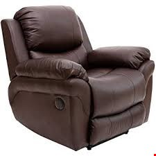 Lot 89 BOXED DESIGNER MADISON POWER RISE & RECLINER BROWN LEATHER EASY CHAIR  RRP £539.99