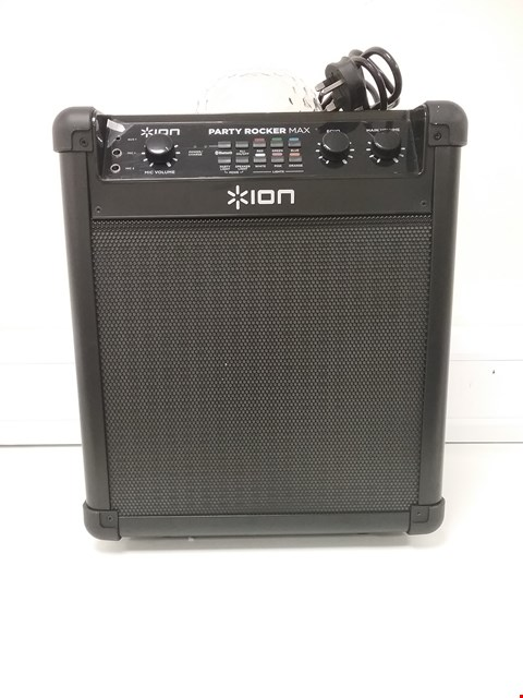 Lot 3468 MAX - 100 W PORTABLE WIRELESS BLUETOOTH SPEAKER & KARAOKE CENTRE WITH RECHARGEABLE BATTERY, PARTY LIGHT DISPLAY